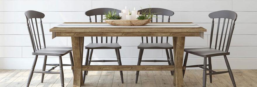 Tables de salle à manger en bois massif
